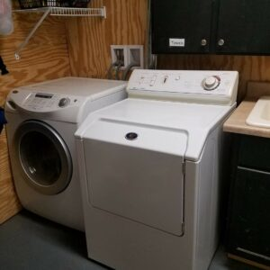 All boarders have access to the washer and dryer for cleaning blankets and barn gear.