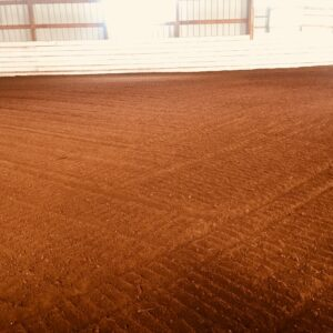 Footing are well maintained with regular grooming and dust control.